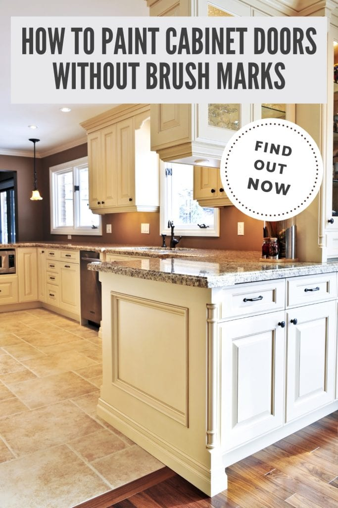 How to Paint Cabinet Doors Without Brush Marks Easy Guide